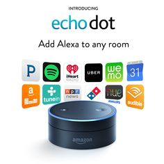 Amazon.com: Echo Dot- www.theteelieblog.com Echo Dot is a hands-free, voice-controlled device that uses the same far-field voice recognition as Amazon Echo. #echodot