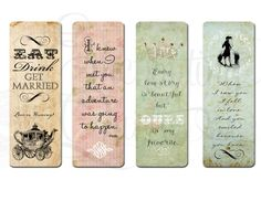 Printable bookmarks! https://www.etsy.com/listing/180833512/party-favor-printables-bridal-tea-party