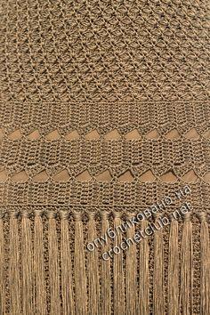 Atacama Drop Waist Dress by Vanessa Montoro for Preorder on Moda Operandi: Crochet Skirts, Crochet Blouse, Crochet Motif, Crochet Designs, Crochet Clothes, Crochet Stitches, Knit Crochet, Crochet Patterns, Vanessa Montoro