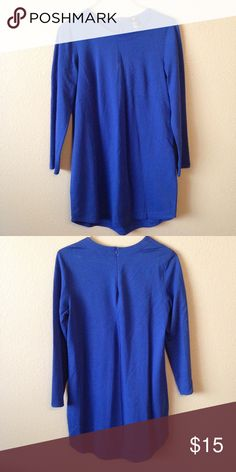 """NWOT Blue H&M shift dress Simple blue shift dress from H&M. Perfect dress for the office. Never worn. Measured flat: 33.5"""" long, 19"""" across. H&M Dresses Long Sleeve"""