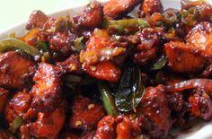 Delicious mutton in chilli souce