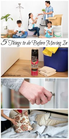 "5 things I ALWAYS do before moving into a ""new to me"" house, plus some bonuses. Make any new ""old"" house feel homey and personal."
