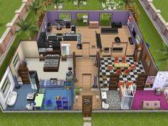 Simsfreeplay house   cool open floorplan