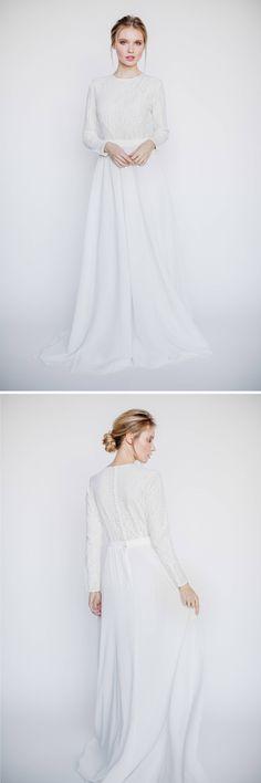 Long Sleeve Wedding Dress || Modest Wedding Dress || Understated Chic Wedding Dress