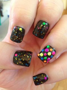 Vegas Nights (neon):  Custom-Blended NEON Glitter Nail Polish / Lacquer/ indie polish on Etsy, $9.00