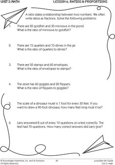 Ratios from Phrases Worksheets   Math-Aids.Com   Pinterest ...