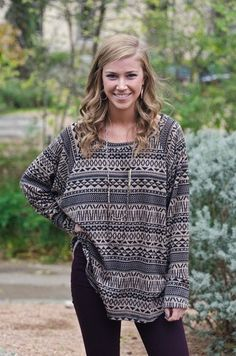 oversized tribal pullover   oversized tribal sweater. yes please!