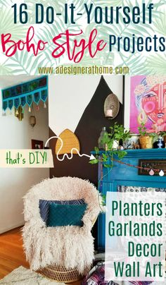 16 do it yourself boho style home projects Handmade Home Decor, Diy Home Decor, Boho Home, Boho Stil, Boho Bathroom, Bohemian Decor, Bohemian Style, Bohemian Interior, Hippie Style