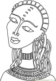 African American Printable Coloring Pages | free printable coloring page African Woman (Peoples > Others)