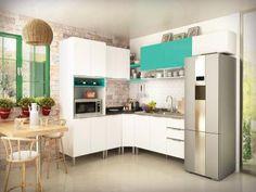 Cozinha Completa Líder Casa Aroma com Balcão - 13 Portas 3 Gavetas com as…