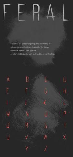FERAL / Free Typeface by Marcus Lien Gundersen, via Behance