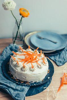 Karottenkuchen mit Frischkäsefrosting