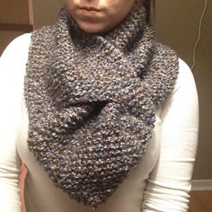 A personal favorite from my Etsy shop https://www.etsy.com/ca/listing/252673746/knit-keyhole-scarf-hand-knitted-cowl-sky