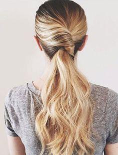Twist Pretty Ponytail Hairstyles 2018