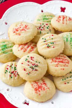 Whipped shortbread cookies are light as air with a delicious buttery flavor. Learn all the tips & tricks for perfect whipped shortbread recipe. Whipped Shortbread Cookies, Shortbread Recipes, Powdered Sugar Cookies, Baking Recipes, Cookie Recipes, Dessert Recipes, Dessert Blog, Holiday Baking, Shortbread Cookies