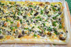 Smaczny kąsek: Tarta z pieczonym kurczakiem i pieczarkami Polish Recipes, Polish Food, Vegetable Pizza, Quiche, Hamburger, Snacks, Vegetables, Breakfast, Food Heaven