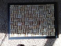 Wine cork-cork board! Recreated from pinterest.