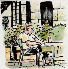 [ #DRAWING ] Lost in thoughts - Caffetteria del Giardino di Boboli, #Firenze http://www.lescarnets.fr/sketch.php?id=1160 #art #travel