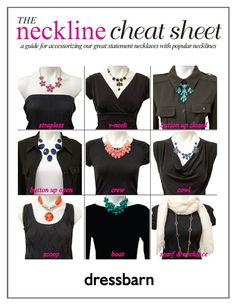 Match your fave necklace to any neckline with this cheat sheet! #greatidea