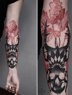 follow the colours tattoo friday Timur Lysenko Wicked Tattoos, Red Tattoos, Life Tattoos, Insect Tattoo, Blackwork, Pointillism Tattoo, Line Work Tattoo, Tattoo Illustration, Tattoos Gallery