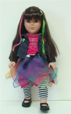 """Dollie and Me 18"""" Doll made by Madame Alexander Named Fab and Funky - Brand new"""