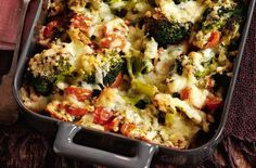 50 tasty vegetarian recipes - Slimming World's cheesy broccoli bake - goodtoknow Slimming World Vegetarian Recipes, Slimming World Dinners, Tasty Vegetarian Recipes, Slimming Recipes, Veggie Recipes, Cooking Recipes, Healthy Recipes, Veggie Food, Healthy Options