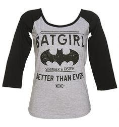 Ladies DC Comics Batgirl Better Than Ever Baseball T-Shirt