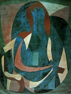 "Pablo Picasso - ""Woman sitting in an armchair"". 1923"