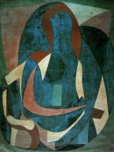 woman sitting in an armchair, 1923 / pablo picasso Picasso Cubism, Picasso Paintings, Monet, Cheap Canvas Prints, Cubist Movement, Henri Matisse, Sculpture, Art World, Les Oeuvres