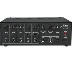 SSB-80E: 80Watts PA #Amplifier with Digital Echo  Power Output: 110W Max., 80W RMS at 10% THD  Input Channel: 5 x Mic 0.65mV/4.7kΩ, 2 x Aux 100mV/470kΩ Digital Echo: Echo facility on all inputs through Echo repeat & delay controls providing Echo... Reverb... Chorus... Effect Tone Controls: Bass: ±10dB at 100Hz, Treble: ±10dB at 10kHz Outputs: Preamp 200mV/600Ω Speaker Outputs: 4Ω, 8Ω, 16Ω, 70V & 100V  www.atracoustics.com