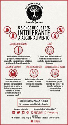 5 Signos de que eres intolerante a algún alimento