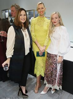 Gorgeous gals! The blonde bombshell posed for a snapshot with Monica and Kate Foley...