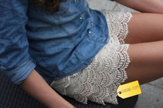 The perfect lace shorts
