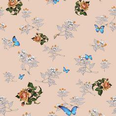 Bouquet & Butterflies-Apricot New York's Wallpaper Collective. ADORE...