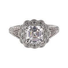 jcpenney.com | DiamonArt® Cubic Zirconia Sterling Silver Flower-Shaped Ring