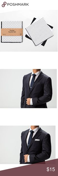 """Mens Pocket Square Set of 3 Cotton 12""""x12"""" Set of 3 pocket squares measuring 12""""x12"""" each 100% cotton COMFORT: Fabric is light and easily folded as well as very soft and smooth to the touch STAND OUT: Works great to spruce up your suit in any business or casual setting to show you put in the extra step GIFT: Having trouble shopping for he who has it all? Great gift for someone who's in a suit all day! Add to their collection! Accessories Pocket Squares"""