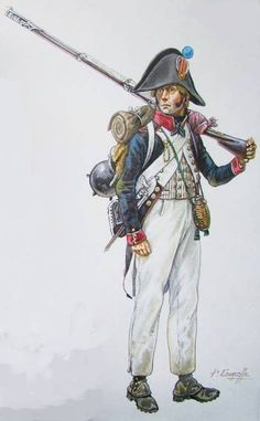 French; Line Infantry, Fusilier, Austerlitz, 1805 by P.Courcelle