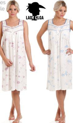 Ladies Sleeveless Jersey Floral Print Poly/Cotton Nightdress sz 10 to 24 Pyjamas, Pjs, Embossed Fabric, Satin Fabric, Nightwear, Simple Designs, Lace Detail, Soft Fabrics, Pink Purple