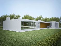 The best modern house designs. Find cool ultra modern mansion blueprints, small contemporary 1 story home designs & more! House Plans One Story, One Story Homes, Best House Plans, Story House, House Floor Plans, Flat Roof House, Facade House, Small Modern House Plans, Modern House Design