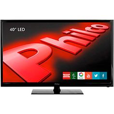 TV LED 40'' Philco PH40R86DSGW Full HD com Função Smart Conversor Digital 2 HDMI 1 USB Wi-Fi 60Hz
