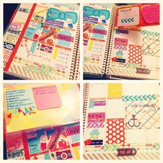 Bows & Curtsies  Midweek! #picstitch #eclifeplanner14 #weloveec #erincondren #lifeplanner #planneraddict #summerschool #stationery