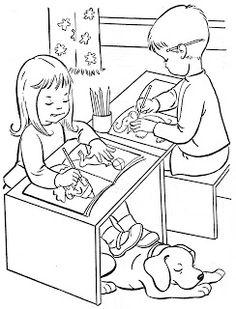 Desenhos para colorir Volta as Aulas