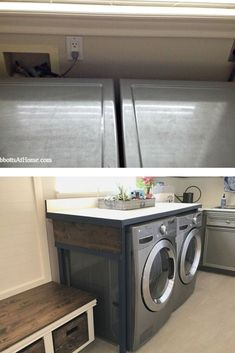 15 surprisingly easy and affordable ways to upgrade the rooms around your house. Laundry Table, Laundry Room, Diy Playbook, Cabinet Making, Outlet Covers, Organizing Your Home, Hanging Planters, Diy Organization