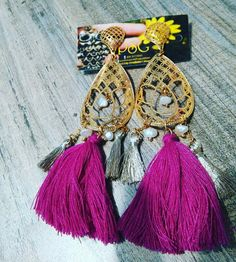 Earrings. #ColombiaJewelry.