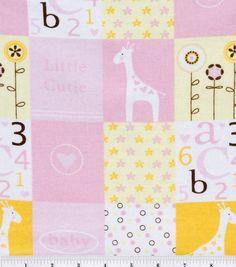 Snuggle Flannel Fabric- Little Cutie