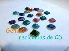 Gemas recicladas de CD