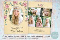 AG002 Senior Graduation Card ~ Postcard Templates ~ Creative Market
