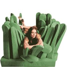 This couch is like a tuft of grass.