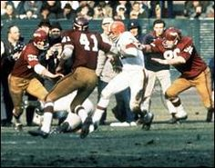 Brown was hard to bring down By Larry Schwartz Special to ESPN.com  After being tackled, he would pick himself up off the grass painfully and slowly, looking like a man who had been hit by a bus.... Then, on the next play, he would burst through the line again, shrugging off would-be tacklers. Jim Brown is to running backs what Superman is to cartoon heroes. Standing 6-foot-2 and packing 230 hard pounds...he was an explosive fullback, combining outstanding speed with awesome power.
