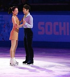 Mao and Daisuke (Gala at #Sochi2014 -時事通信) I like this pair!!! They have pulled Japanese skating. Special thanks x)!!!